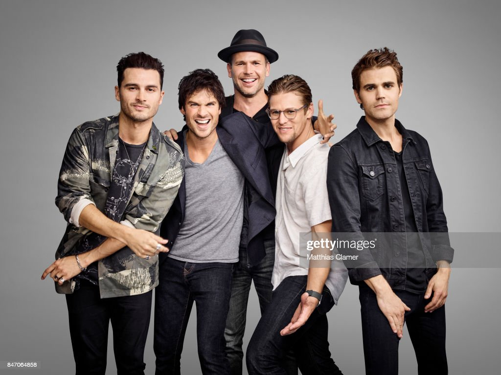 Actors Michael Malarkey, Ian Somerhalder Matt Davis, Zach Roerig and Paul Wesley from 'The Vampire Diaries' are photographed for Entertainment Weekly Magazine on July 23, 2016 at Comic Con in the Hard Rock Hotel in San Diego, California.