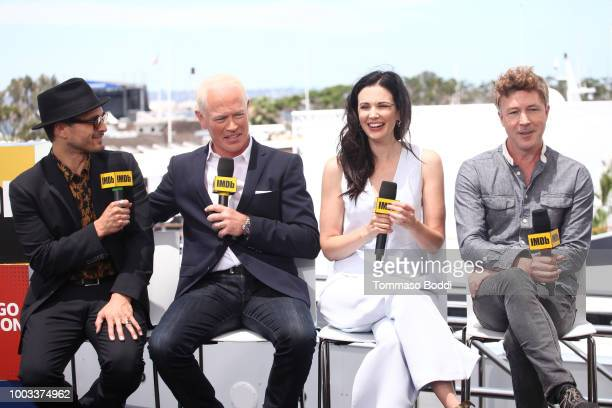 Actors Michael Malarkey Neal McDonough Laura Mennell and Aidan Gillen attend the #IMDboat At San Diego ComicCon 2018 Day Three at The IMDb Yacht on...