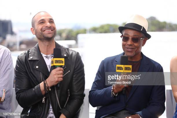 Actors Michael Mando and Giancarlo Esposito attend the #IMDboat At San Diego ComicCon 2018 Day Two at The IMDb Yacht on July 20 2018 in San Diego...