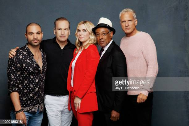 Actors Michael Mando Bob Odenkirk Rhea Seehorn Giancarlo Esposito and Patrick Fabian from 'Better Call Saul' are photographed for Los Angeles Times...