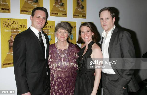 Actors Michael Mosley Judith Ivey Keira Keeley and Patch Darragh attends the opening night of 'The Glass Menagerie' after party at the Roundabout...