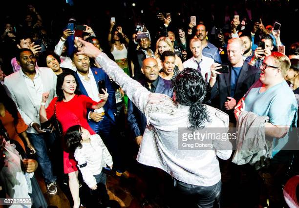 """Actors Michael Mourra and Navi performs at the Lifetime Hosts Fan Gala And Advance Screening For """"Michael Jackson: Searching For Neverland"""" After..."""