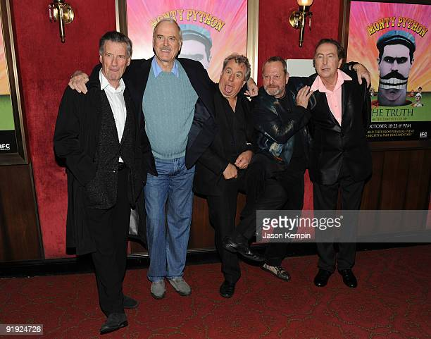 Actors Michael Palin, John Cleese, Terry Jones, Terry Gilliam and Eric Idle attend the IFC & BAFTA Monty Python 40th Anniversary event at the...