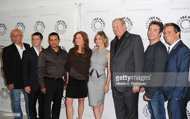 Actors Michael Paul Chan Jonathan Del Arco Raymond Cruz Mary McDonnell Kyra Sedgwick Ken Howard Jon Tenney and Phillip Keene attend The Paley Center...