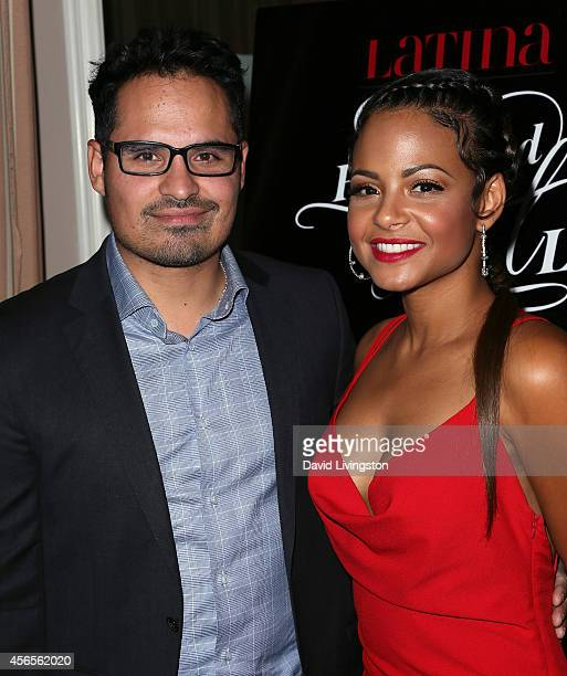 Actors Michael Pena and Christina Milian attend LATINA Magazine's Hollywood Hot List party at the Sunset Tower Hotel on October 2 2014 in West...