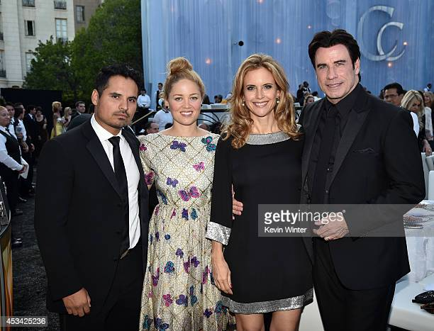 Actors Michael Pena Erika Christensen Kelly Preston and John Travolta attend the Church of Scientology Celebrity Centre 45th Anniversary Gala on...