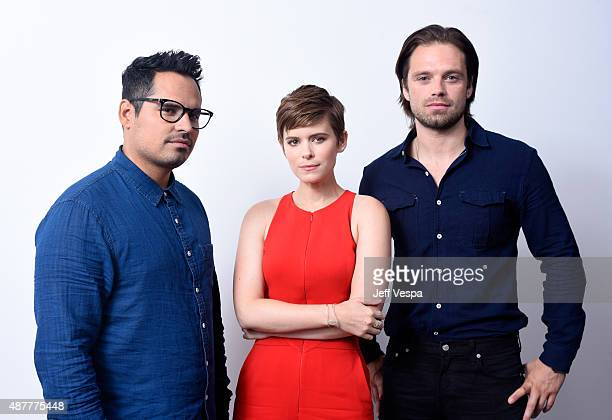 Actors Michael Pena Kate Mara and Sebastian Stan from 'The Martian' pose for a portrait during the 2015 Toronto International Film Festival at the...
