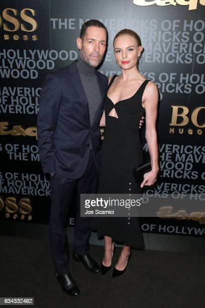 Actors Michael Polish and Kate Bosworth attend Esquire's celebration of March cover star James Corden and the Mavericks of Hollywood presented by...