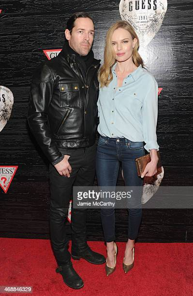 Actors Michael Polish and Kate Bosworth attend GUESS Celebrates New York Fashion Week On the Road to Nashville at Center 548 on February 11 2014 in...