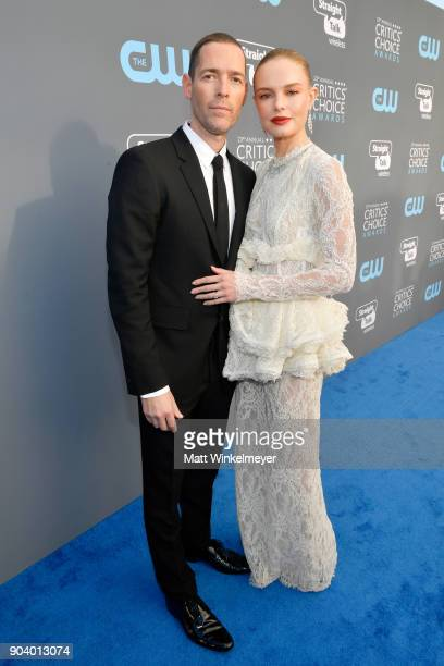 Actors Michael Polish and Kate Bosworth attend The 23rd Annual Critics' Choice Awards at Barker Hangar on January 11 2018 in Santa Monica California