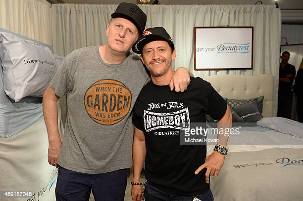 Actors Michael Rappaport and Clifton Collins Jr got their beauty rest with Beautyrest Mattresses at EXTRA's 'WEEKEND OF | LOUNGE' produced by On 3...