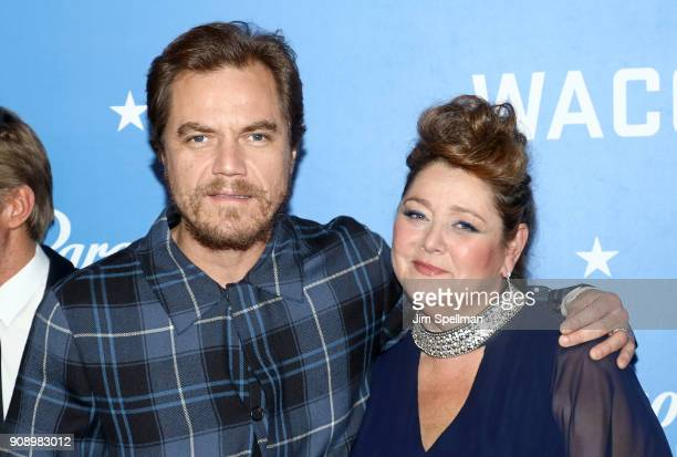 Actors Michael Shannon and Camryn Manheim attend the Waco world premiere at Jazz at Lincoln Center on January 22 2018 in New York City