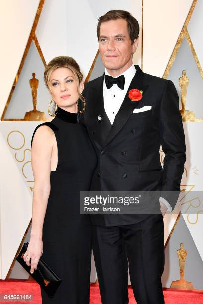 Actors Michael Shannon and Kate Arrington attend the 89th Annual Academy Awards at Hollywood Highland Center on February 26 2017 in Hollywood...