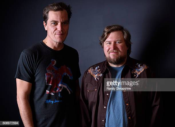 Actors Michael Shannon and Michael Chernus from the film 'Complete Unknown' pose for a portrait during the WireImage Portrait Studio hosted by Eddie...