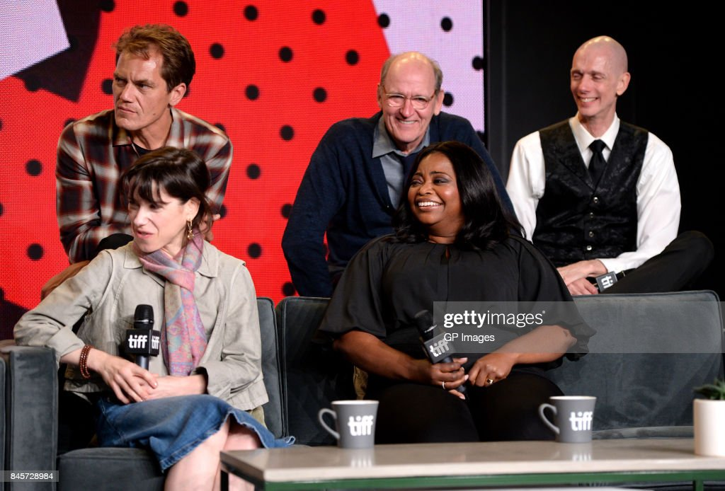 Actors Michael Shannon, Richard Jenkins, Doug Jones, (Front L-R) Sally Hawkins and Octavia Spencer attend 'The Shape of Water' press conference during 2017 Toronto International Film Festival at TIFF Bell Lightbox on September 11, 2017 in Toronto, Canada.