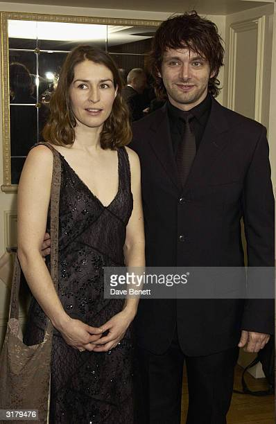 Actors Michael Sheen and Helen Baxendale attends the Evening Standard Drama Awards at the Savoy Hotel November 24th 2003 in London