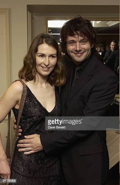 Actors Michael Sheen and Helen Baxnedale attend the Evening Standard Drama Awards at the Savoy Hotel November 24th 2003 in London