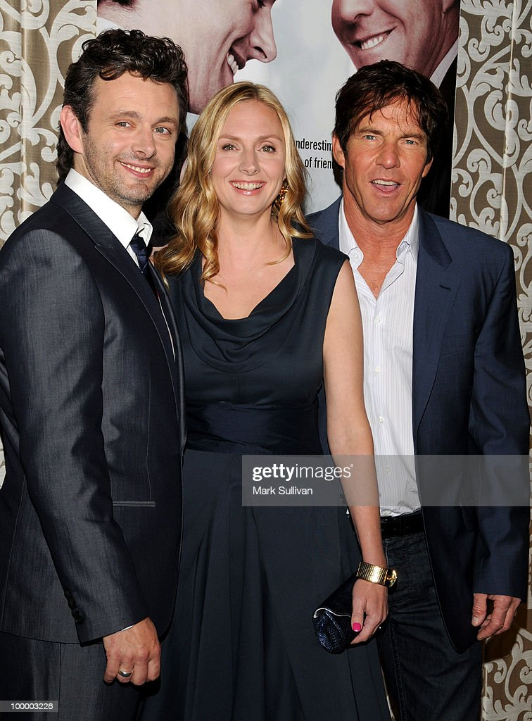 Actors Michael Sheen, Hope Davis and Dennis Quaid attend HBO Film's 'The Special Relationship' Los Angeles Premiere at Directors Guild Theatre on May 19, 2010 in West Hollywood, California.
