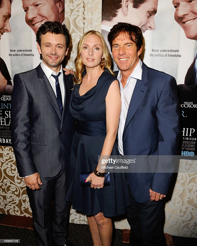 Actors Michael Sheen, Hope Davis and Dennis Quaid attend the Los Angeles premiere of HBO Film's 'The Special Relationship' at the Directors Guild Theatre on May 19, 2010 in West Hollywood, California.