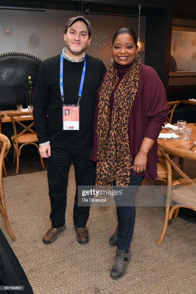 Actors Michael Stuhlbarg (L) and Octavia Spencer attend the Feature Film Jury Orientation Breakfast during the 2018 Sundance Film Festival at Cafe Terigo on January 19, 2018 in Park City, Utah.