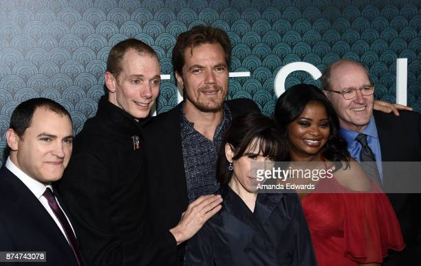 Actors Michael Stuhlbarg Doug Jones Michael Shannon Sally Hawkins Octavia Spencer and Richard Jenkins arrive at the premiere of Fox Searchlight...