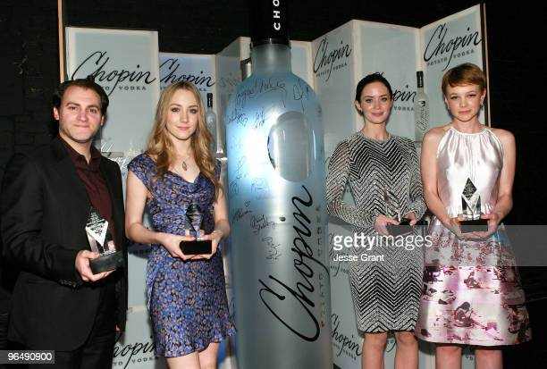 Actors Michael Stuhlbarg Saoirse Ronan Emily Blunt and Carey Mulligan attend the 2010 Virtuoso Awards presented by Chopin Vodka during the 25th...