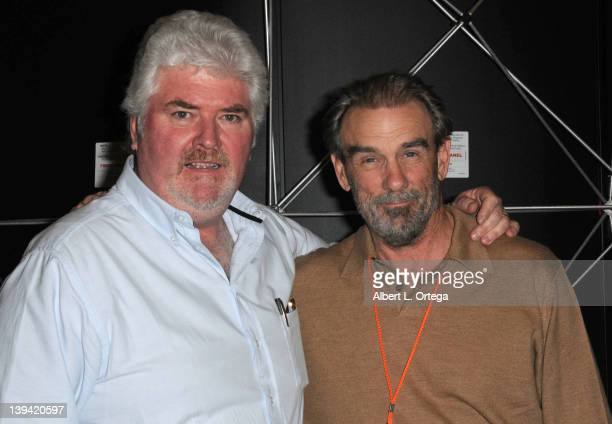 """Actors Michael Talbott and John Diehl from """"Miami Vice"""" attend the Hollywood Show held at Burbank Airport Marriott on February 11, 2012 in Burbank,..."""