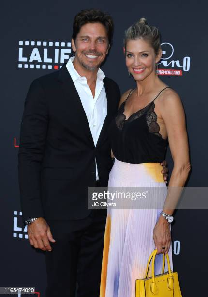 Actors Michael Trucco , and Tricia Helfer attend the 2019 Los Angeles Latino International Film Festival - Opening Night Premiere of 'The...