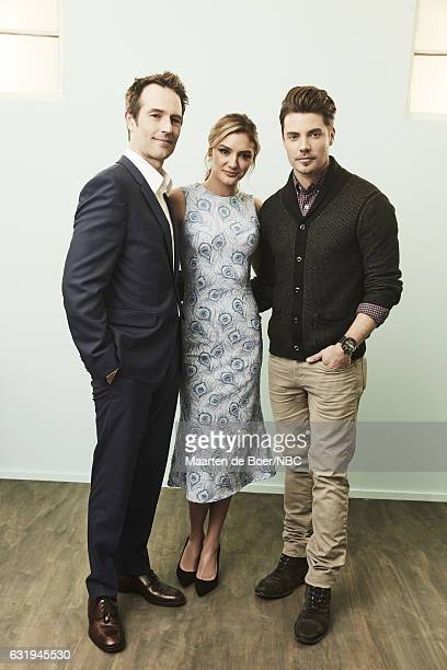 Actors Michael Vartan Christine Evangelista and Josh Henderson of 'The Arrangement' pose for a portrait in the NBCUniversal Press Tour portrait...
