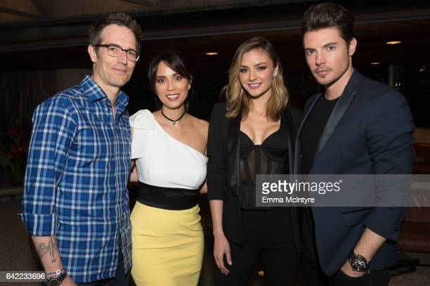 Actors Michael Vartan Lexa Doig Christine Evangelista and Josh Henderson attend E's 'The Arrangement' event on February 15 2017 in Los Angeles...