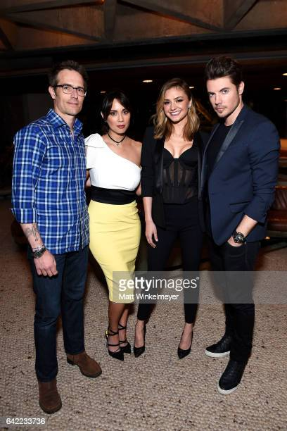 Actors Michael Vartan Lexa Doig Christine Evangelista and Josh Henderson attend E's The Arrangement Event on February 15 2017 in Los Angeles...