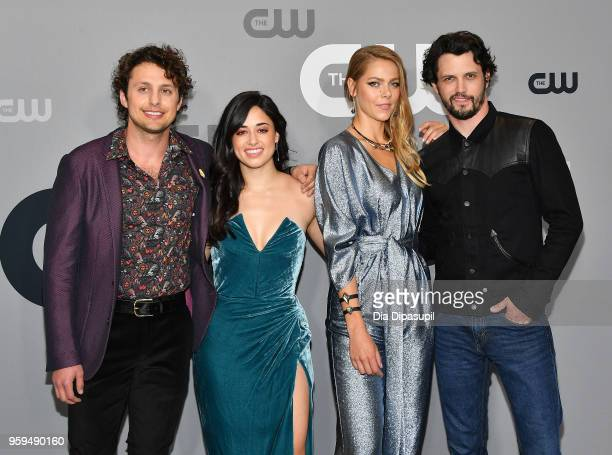 Actors Michael Vlamis Jeanine Mason Lily Cowles and Nathan Parsons attend the 2018 CW Network Upfront at The London Hotel on May 17 2018 in New York...