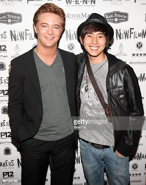 Actors Michael Welch and Justin Chon arrive at Lost Dream Los Angeles Premiere at the Stanley Kramer Theater on May 7 2009 in Hollywood California