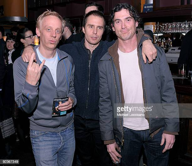 Actors Michael White Sam Rockwell and Billy Crudup attend the afterparty for a screening of Gentlemen Broncos at Tribeca Cinemas on October 26 2009...