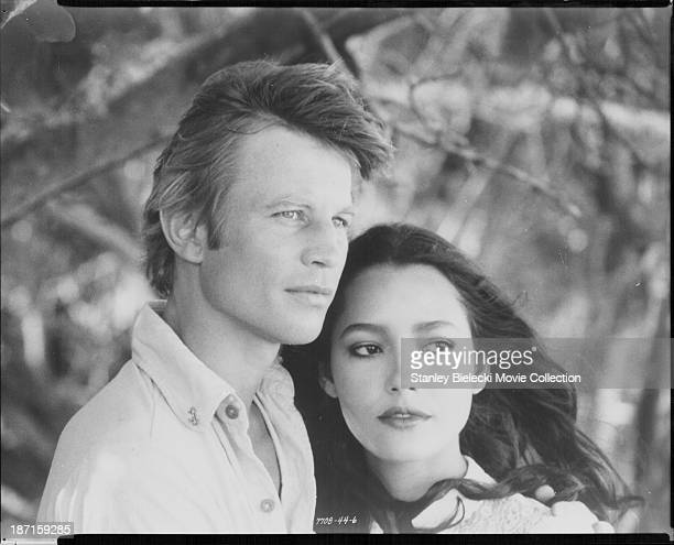 Actors Michael York and Barbara Carrera in a scene from the movie 'The Island of Dr. Moreau', 1977.
