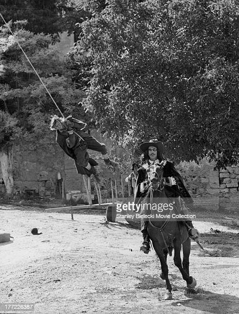 Actors Michael York and Christopher Lee in a scene from the movie 'The Three Musketeers' 1973