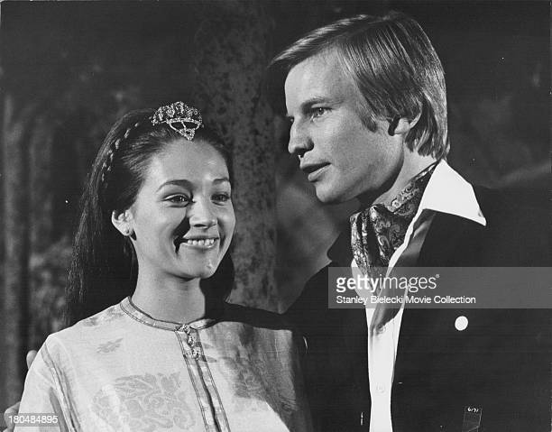 Actors Michael York and Olivia Hussey in a scene from the movie 'Lost Horizon', 1973.