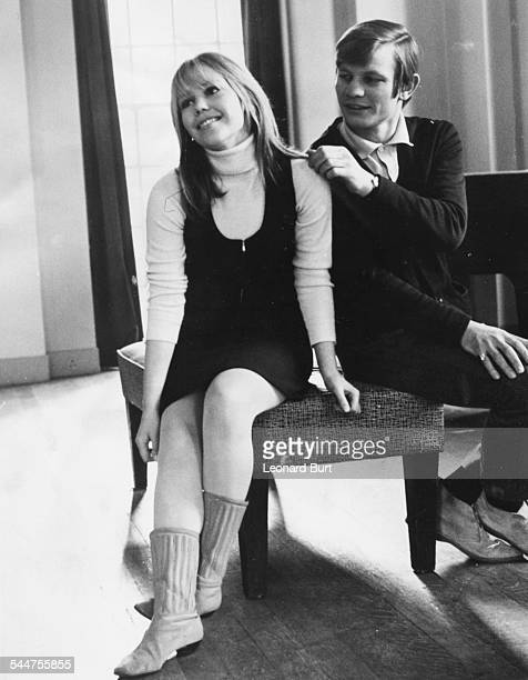 Actors Michael York and Tessa Wyatt rehearsing the play 'Just Cause' at the Adeline Genee Theatre, East Grinstead, February 13th 1967.