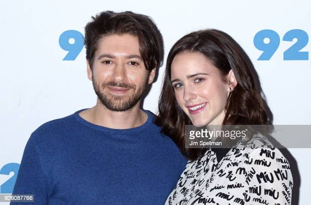 Actors Michael Zegen and Rachel Brosnahan from 'The Marvelous Mrs Maisel' attend the 92nd Street Y 'Marvelous Mrs Maisel' and 'Sneaky Pete' event at...