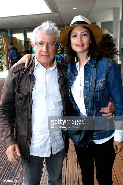 Actors Michel Boujenah and his niece Lucie Boujenah attend the 2018 French Open Day Three at Roland Garros on May 29 2018 in Paris France
