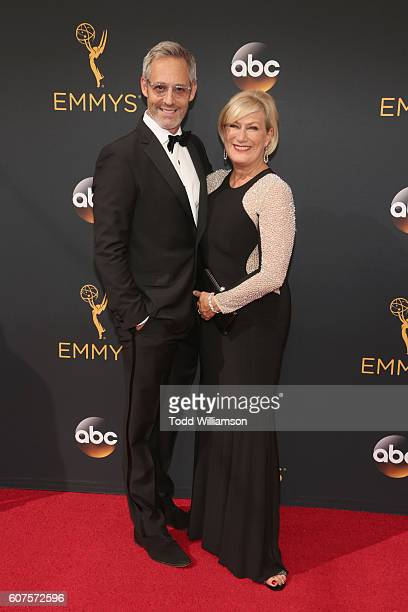Actors Michel Gill and Jayne Atkinson attend the 68th Annual Primetime Emmy Awards at Microsoft Theater on September 18 2016 in Los Angeles California