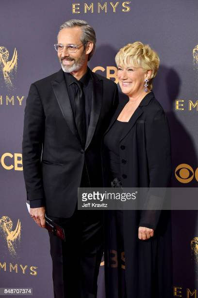 Actors Michel Gill and Jayne Atkinson attend the 69th Annual Primetime Emmy Awards at Microsoft Theater on September 17 2017 in Los Angeles California