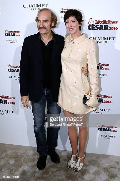 Actors Michel Vuillermoz and Sara Giraudeau attend the 'Cesar Revelations 2016' Photocall at Chaumet followed by a dinner at Hotel Meurice on January...