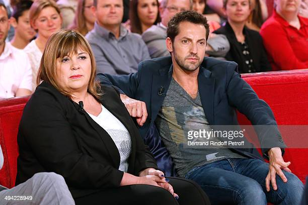 """Actors Michele Bernier and Frederic Diefenthal present the theater play """"Je prefere qu'on reste amis"""" at the 'Vivement Dimanche' French TV Show at..."""
