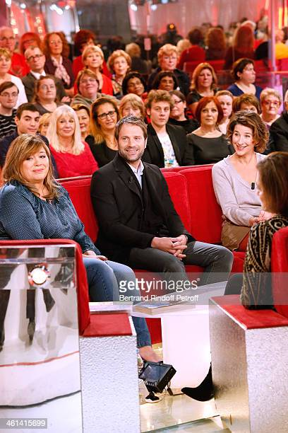 Actors Michele Bernier Thomas Jouannet and Isabelle Gelinas attend 'Vivement Dimanche' French TV Show for the movie 'Paradis amers' Held at Pavillon...