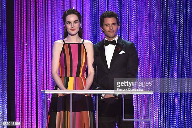 Actors Michelle Dockery and James Marsden speak onstage during the 23rd Annual Screen Actors Guild Awards at The Shrine Expo Hall on January 29 2017...
