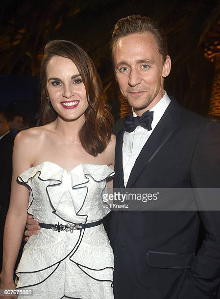 Actors Michelle Dockery and Tom Hiddleston attend HBO's Official 2016 Emmy After Party at The Plaza at the Pacific Design Center on September 18 2016...