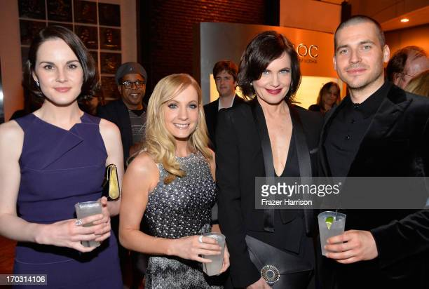 Actors Michelle Dockery Joanne Froggatt Elizabeth McGovern and Rob JamesCollier attend the after party for an evening with 'Downton Abbey' at Leonard...