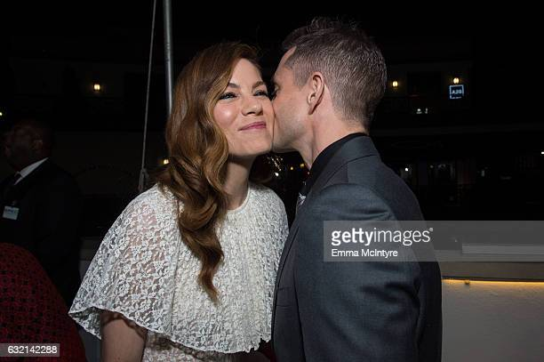 Actors Michelle Monaghan and Hugh Dancy attend the premiere of Hulu's 'The Path' Season 2 at Sundance Sunset Cinema on January 19 2017 in Los Angeles...