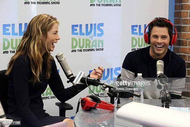 Actors Michelle Monaghan and James Marsden visit the Elvis Duran's Z100 Morning Show at Z100 Studio on October 17 2014 in New York City